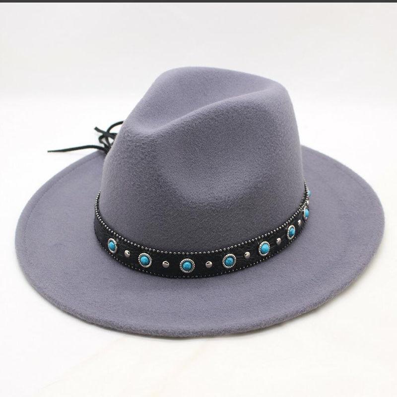 bf19103063e47f BINGYUANHAOXUAN Autumn Winter Sun Hat Women Men Classic Wide Brim Fedora Hat  Floppy Cloche Felt Cap