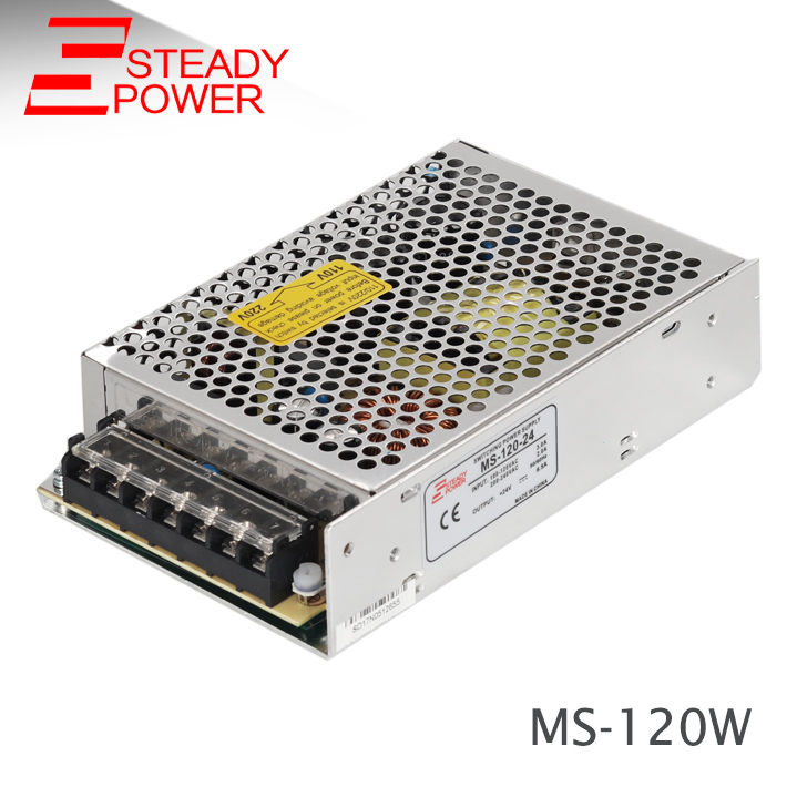 Steady CE approved MS-120w 12v 10a / 24v 5a constant voltage power supply for tv plasma