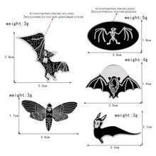 Black Dark Bat Animal Punk Pins Leather jackets Denim Jeans Backpack Bag Accessories Badges Brooches Enamel pins