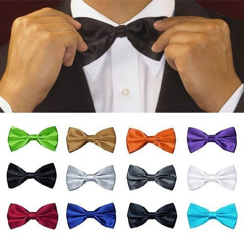 2016 Hot Gift Unisex Bow Tie Fit for Tuxedo Classic Solid Color Adjustable Wedding Party Bowtie 15 Colors Men Women Bowknot Tie image