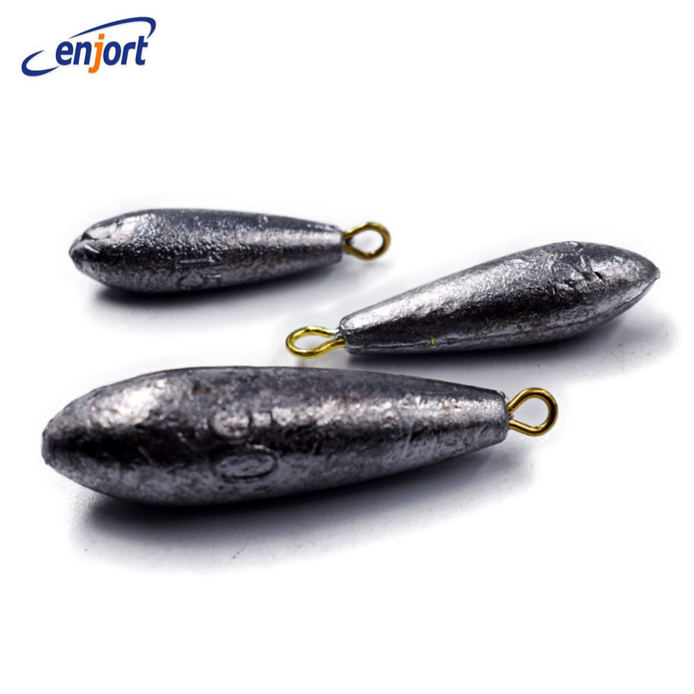 Enjort 1 pcs 10g/15g/20g/30g/40g/50g/60g/80g/<font><b>100g</b></font> weight Water Droplets Lead Weights <font><b>Fishing</b></font> Lead Sinkers <font><b>Fishing</b></font> Accessories image