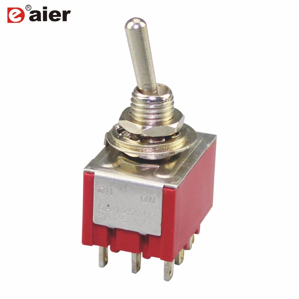 3pcs Dpdt Momentary On Pushbutton Switches 6pin 12mm Guitar Off Toggle Switch From A Using 555 5pcs 6mm Miniature High Quality Mts 303 Red
