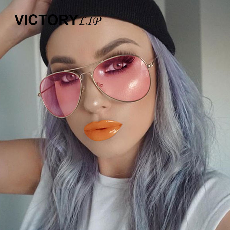 Classic pilot aviation men women sunglasses Retro Gradient Brand Desinger cool Rayed sun glasses Male Female Transparent lens