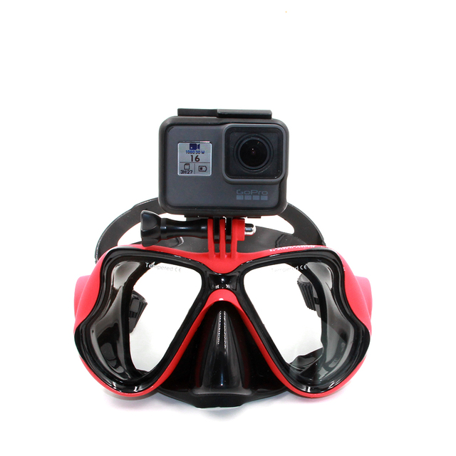 TELESIN Go Pro Underwater Diving Mask Scuba Snorkel Swimming Goggles for GoPro 5 Hero, Xiaomi yi Action Camera Accessories Set