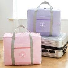 Купить с кэшбэком Large Capacity Travel Bags Luggage Waterproof Oxford Folding Bag Big Casual Women Travel Handbag Unisex