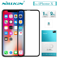 Nilkin For IPhone X Tempered Glass Nillkin 3D CP MAX Full Cover Anti Explosion Glass Screen