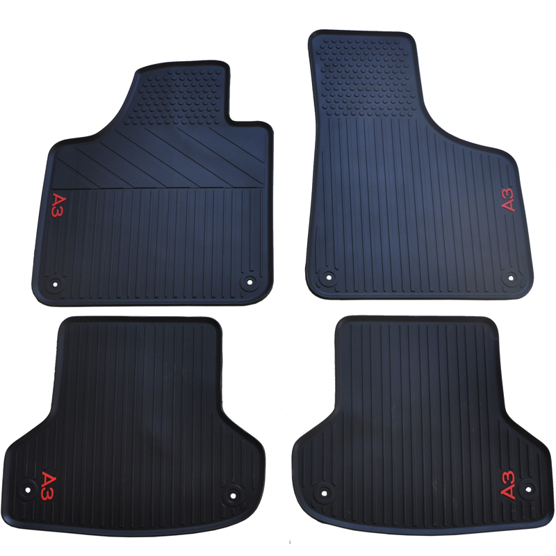 waterproof non slip rubber car floor mats for old and new A3 no odor green latex carpets five seats
