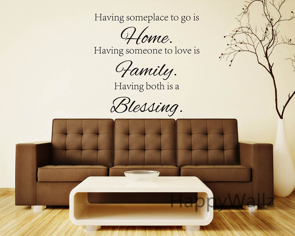 Aliexpresscom  Buy Home Family Blessing Family Quote Wall - Custom vinyl wall decals sayings for living room