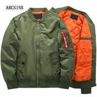 ARCSINX Jacket Bomber Jacket Men Winter Thick Flight Jacket 8XL 7XL 6XL 5XL 4XL Army Green Plus Size Coat Men Bomber Man Jackets