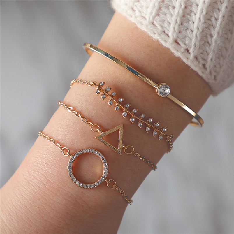 bracelet clou knot bracelet Stylish Multiple Layers Female Elegant Pendant Ladies Jewelry Alloy Bracelet johnny hallyday F14 (4)