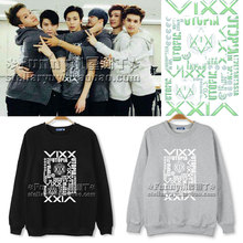 2015 hot sell vixx brand logo 4 color casual hoodies letter pattern jaquetas masculinas inverno bangtan boys free shipping