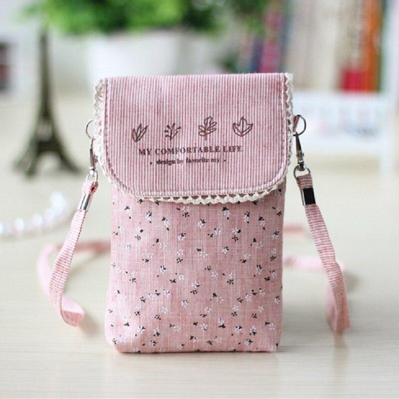 Impresión de la flor del algodón de las mujeres mini bolsos de hombro de  las señoras femenino pequeño teléfono bolsos bolsas feminina para las  muchachas 923f4cfbba38