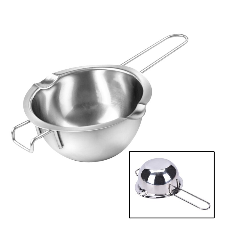 Durable Healthy Melting Pot Pan Silver Chocolate Melting Pot-304Stainless Steel Double Boiler Universal Kitchen Heating Warming Baking Tools for Melting