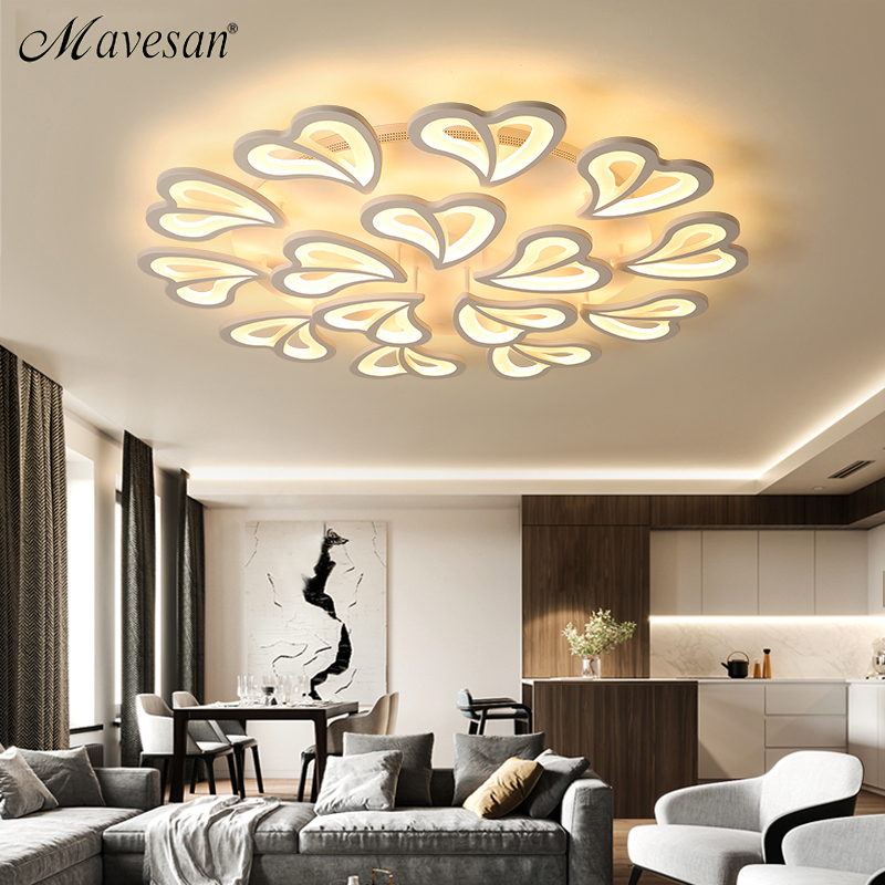 Новый современный светодио дный Люстра для гостиной спальня столовая алюминиевый корпус домашние люстра лампа осветительное оборудование