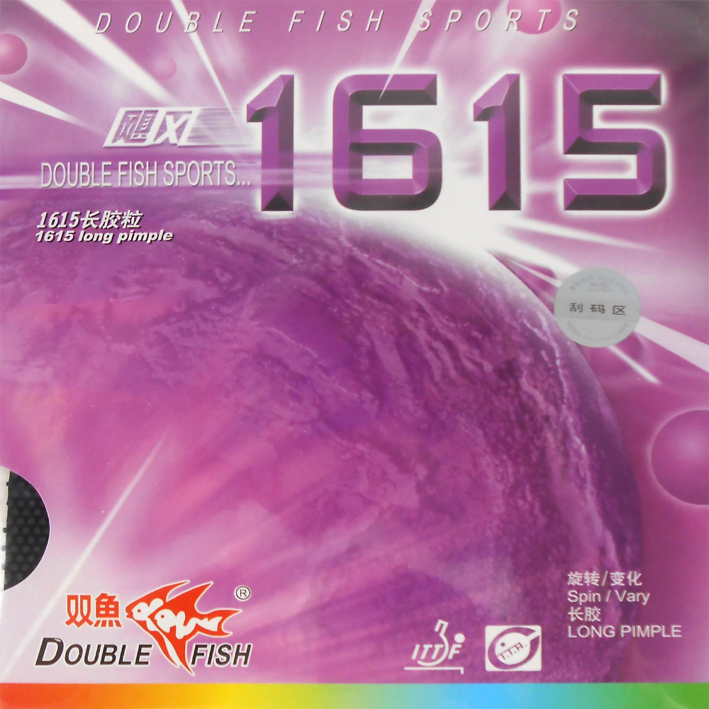 Double Fish 1615 Long Pips-Out Table Tennis PingPong Rubber Without Sponge Topsheet OX The New Listing Best Control