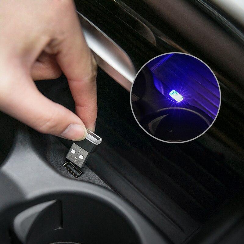 Car Styling Cup Holder storage box light USB Decorative For Audi A1 A6L A3 A4 A6 A7 A8 TT Q7 Q3 R8 S5 S6 S7 S8 Q5 B6 Accessories Car Stickers     -