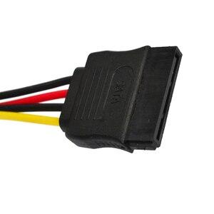 Image 4 - Marsnaska excellente 1 pièces série ATA SATA 4 broches IDE à 15 broches HDD adaptateur dalimentation câble adaptateur de disque dur mâle à femelle câble