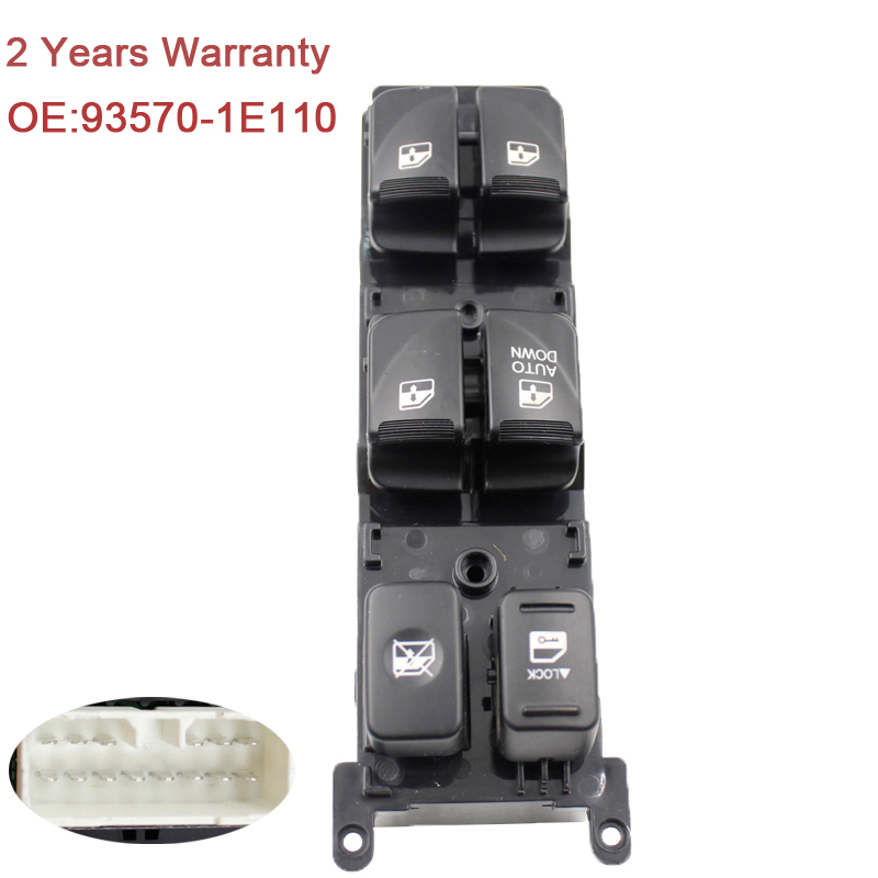 YAOPEI 93570-1E110 Master Power Control Window Switch For Hyundai Accent 2007-2008 935701E110 for hyundai elantra front left driver side master power window switch 2001 02 03 04 05 2006 93570 2d000