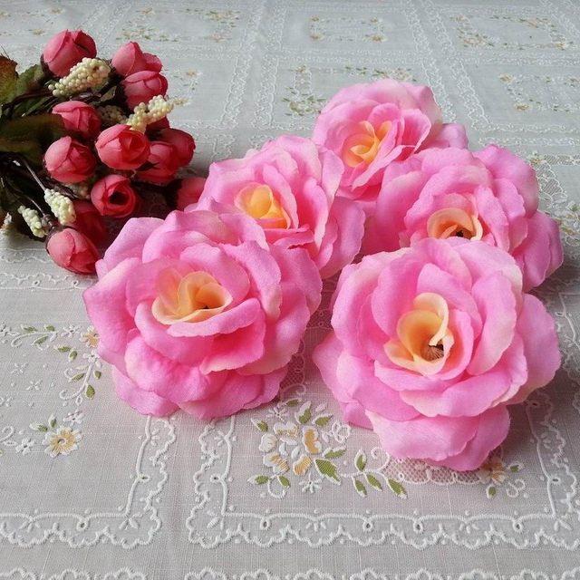Online shop 8cm dark blue color 10pcslot artificial rose silk 8cm dark blue color 10pcslot artificial rose silk flower heads decorative flowers for wedding home party banquet decoration mightylinksfo