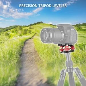 "Image 2 - Andoer LP 64 Camera Tripod Head Leveling Base Tri wheel Precision Leveler w/ Bubble Level 3/8"" Screw Aluminum Alloy Load 15kg"