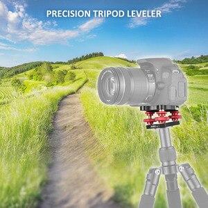 """Image 2 - Andoer LP 64 Camera Tripod Testa Livellamento Base Tri ruota di Precisione Leveler w/Bubble Level 3/8 """"A Vite In Alluminio lega di Carico 15 kg"""