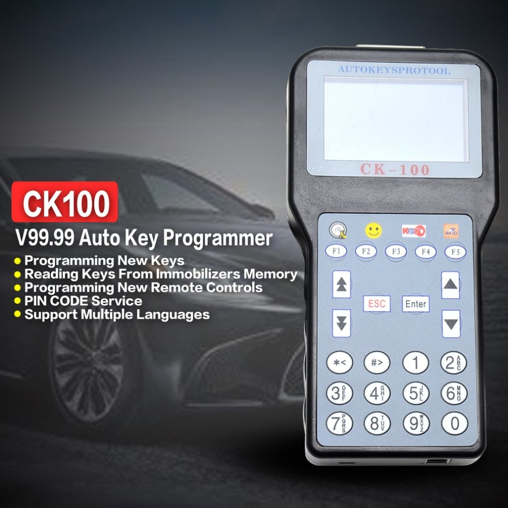 SBB Car Key Maker Automobile Auto CK-100 Newest Generation Programmer V99.99 OBD2 Transponder 1024 Tokens стоимость