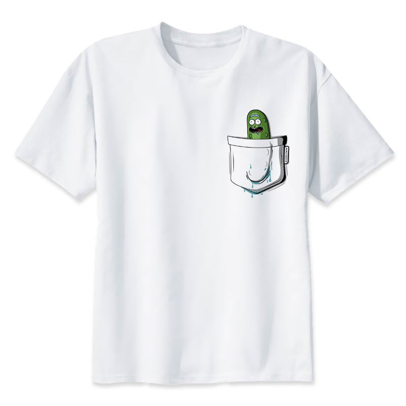 dabbing pickle rick   t  -  shirt   mens Rick and morty New Anime   t  -  shirt   rick y morty funny   T     Shirt   Male Cool Homme Tshirts Tops Tees