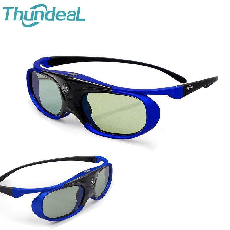 Thundeal 2 Pcs/4 Pcs 3D 96 Bateria Projetor DLP Óculos de Obturador Ativo Universal-144Hz Para Acer viewsonic JmGO XGIMI Projetor Optoma BenQ