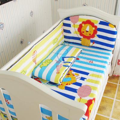 Promoção! 5 PCS Conjunto de Cama para Berço Do Bebê Bebê Recém-nascido Roupa de Cama, inclui :( amortecedores + ficha)