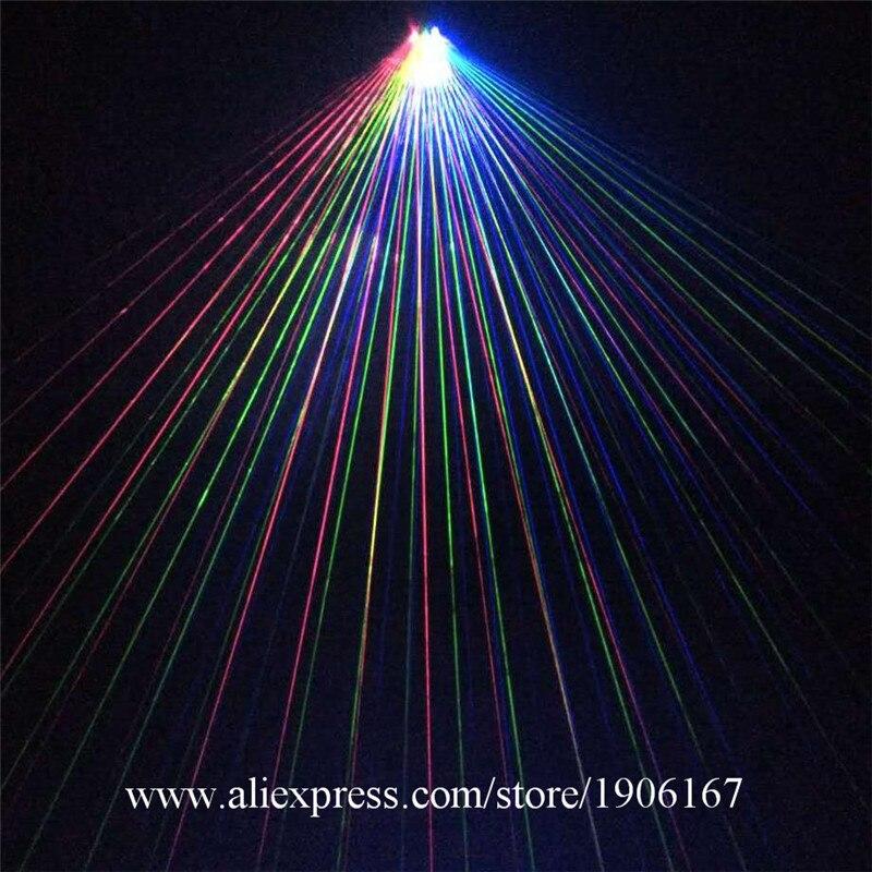 Nový design Led světla RGB DJ laserové rukavice Party s 1ks - Pro svátky a večírky
