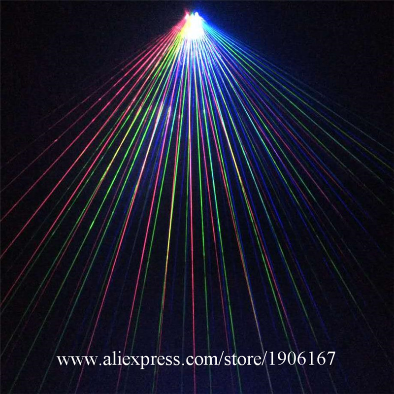 New Design Led Lights RGB DJ Laser Gloves Party With 1pcs Green +1pcs Red +1pcs Violet Lasers For Halloween Dancing Stage Show