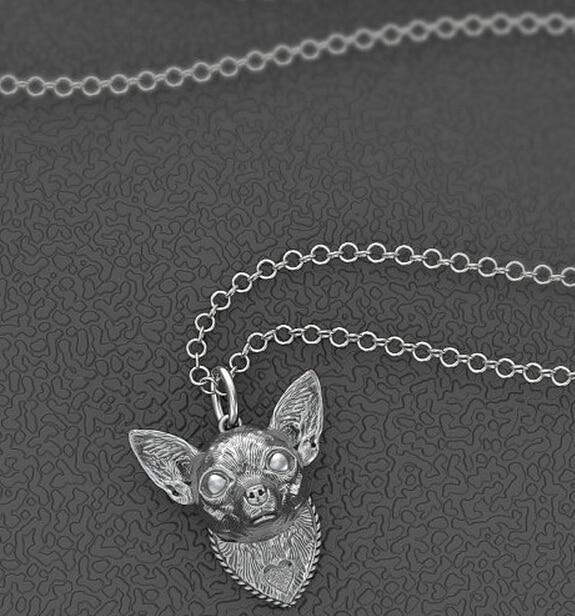 Фото летнее модное мини ожерелье чихуахуа металлическая подвеска цена
