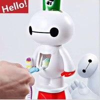 Мультипликационным принтом «Миньон» Автоматический Диспенсер зубной пасты, для зубной щетки держатель продукты Креативные аксессуары для...