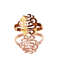 Personal Monogram Bracelets Rose Gold Cutomized Cut 3 Hand Painted Stereoscopic Monogrammed Initial 1 6 Inch