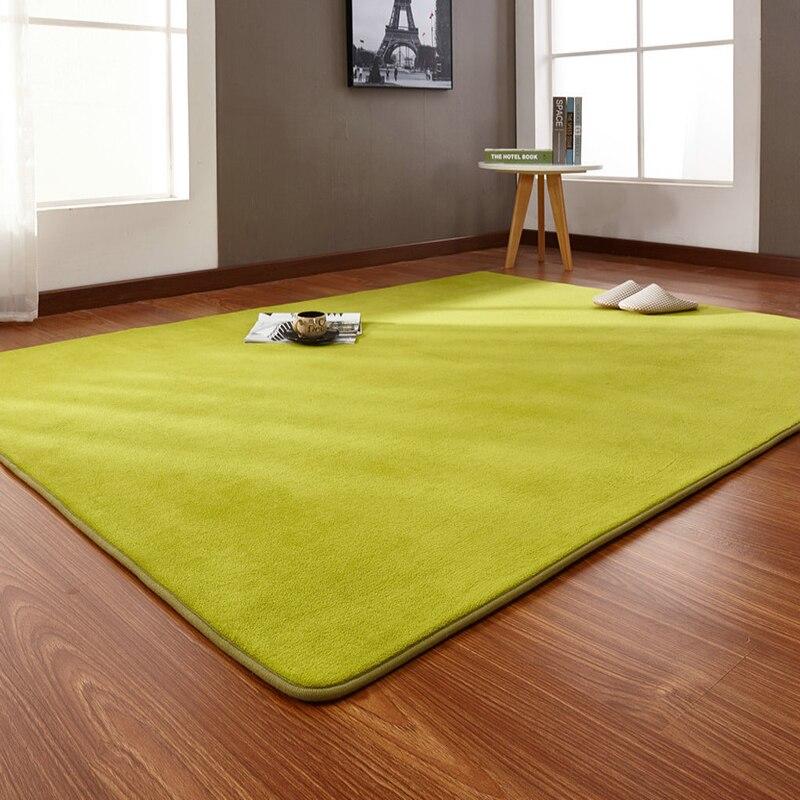 Crawling Mat Outdoor Tent Bottom Pad Thick Coral Fleece Carpet Tatami Rug Bedroom Living Room Bay Window Blanket 160*200cm
