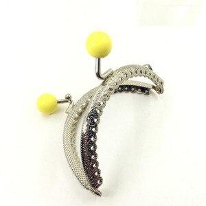 Image 5 - 30 pcs/20 pcs/10 pcs 8.5CM Candy head Bag Kiss Sluiting zilveren halve cirkel Metalen Coining Patroon purse Frame DIY Bag Naaien Accessoires