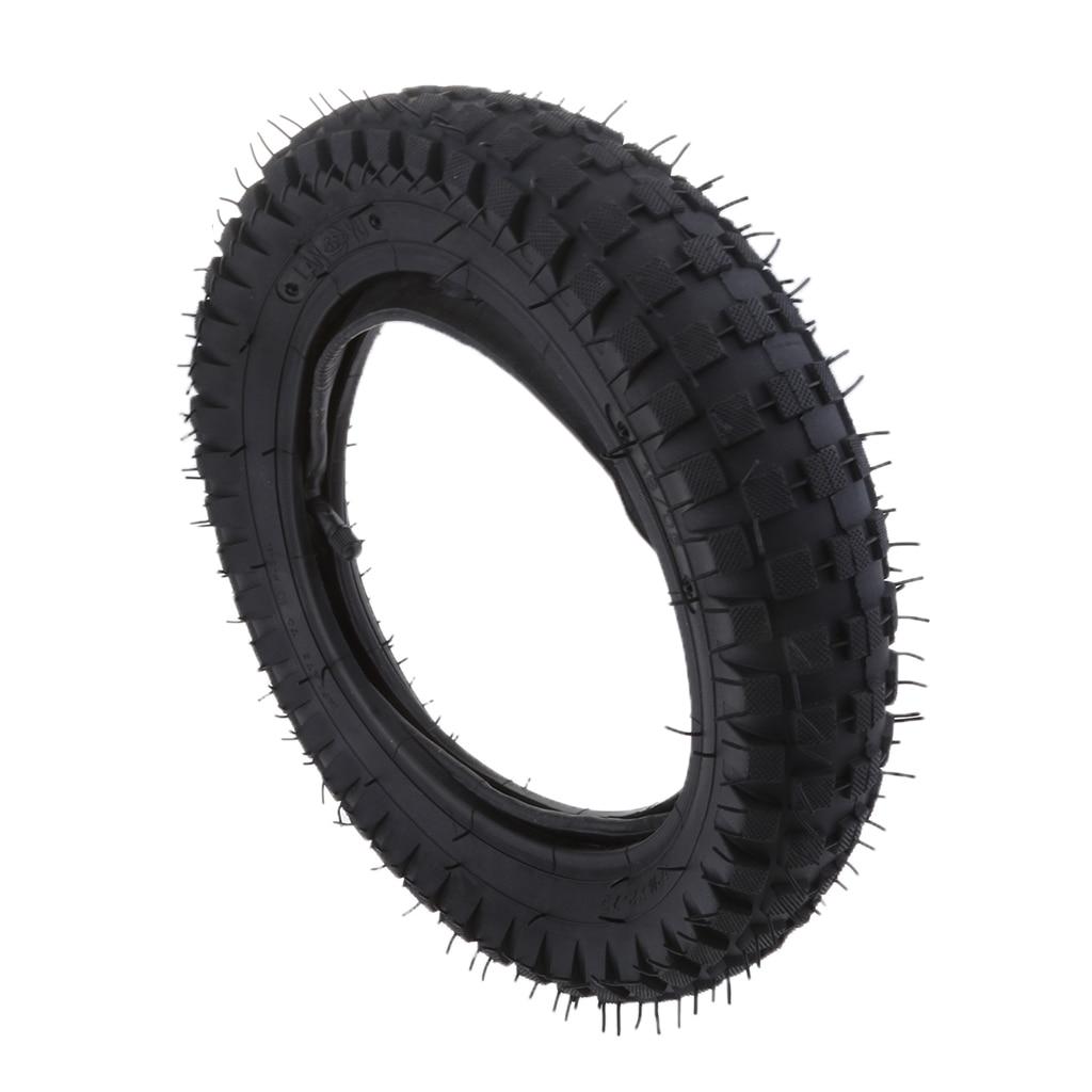 1 Pcs 12.5x2.75 Rubber Gas & Electric Scooter Tire Inner Tube Straight Valve Set For Razor MX350 MX400 Black Tread Groove Design