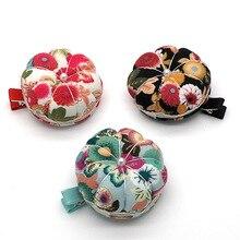 DIY шитье Pincushion Тыква Форма хлопок пуговица из ткани ремешок для вышивки крестом швейная защитная подушечка для булавок аксессуары