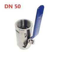 DN50 Internal Thread 304 Stainless Steel Wide Ball Valve DN32 DN40 DN15 DN20 DN50 DN25 Valve For Water And Oil