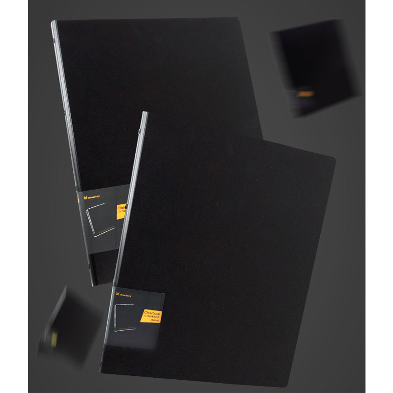 A3/A4/8K Document Presentation Folder 430*350mm 20 Page Transparent Folder Vertical Insert Document Booklet Art Works Collection