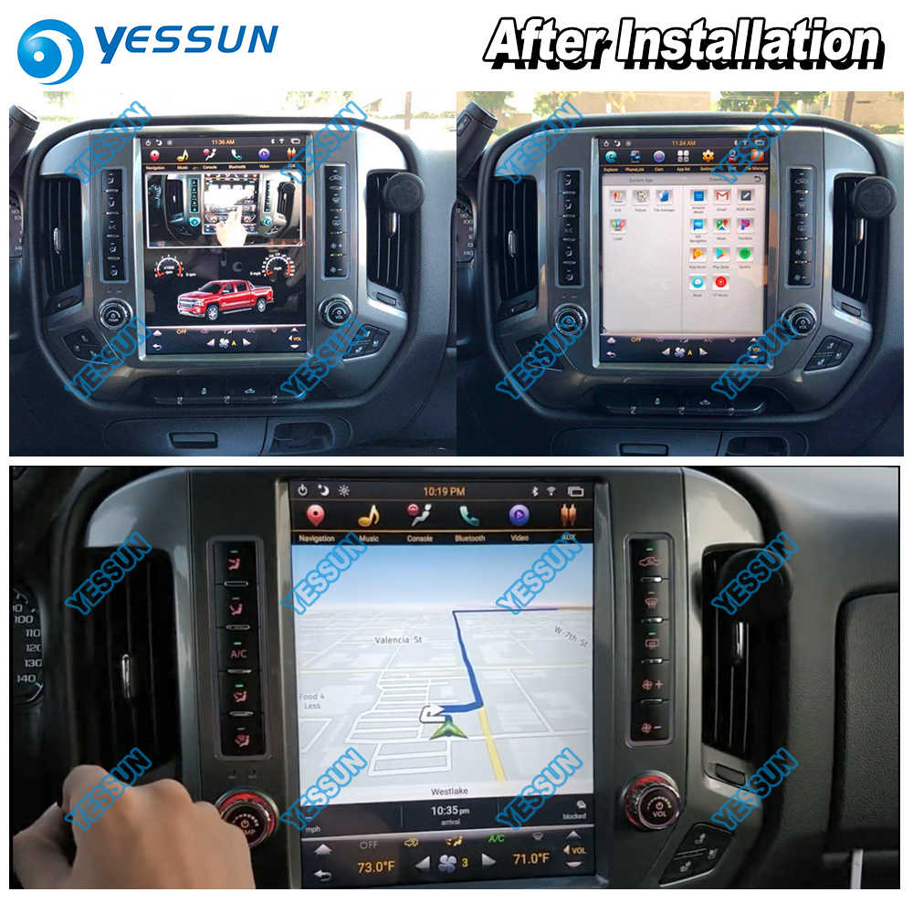 YESSUN For GMC Sierra 2014~2018 12 1'' HD Super Screen Car Android Carplay  GPS Navi maps Navigation Radio Multimedia no CD DVD