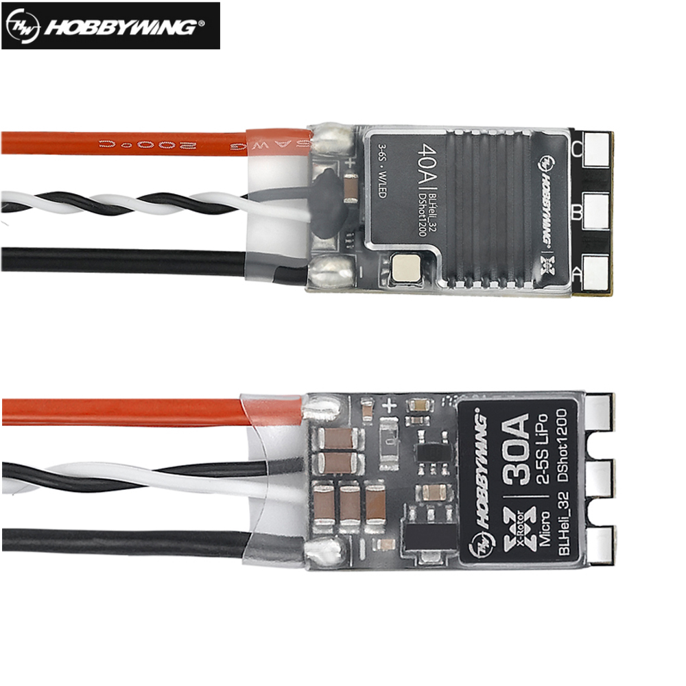 Hobbywing xrotor micro DShot1200 30A/40A BLHeli_32 para FPV brushless ESC quadcopter Racing drone