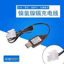 Cargador USB 8,4 V 5557 2P Cable de carga protegido IC para ni cd/Ni Mh batería RC Juguetes Coche Robot cargador de batería de repuesto piezas