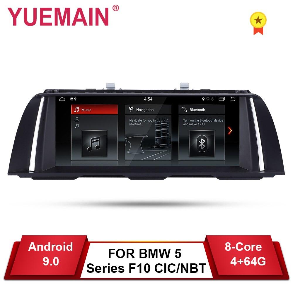 YUEMAIN android 9.0 Car DVD Player GPS Para BMW Série 5 F10 F11 (2011-2016) CIC/520i NBT Auto Rádio de Navegação Multimídia Estéreo