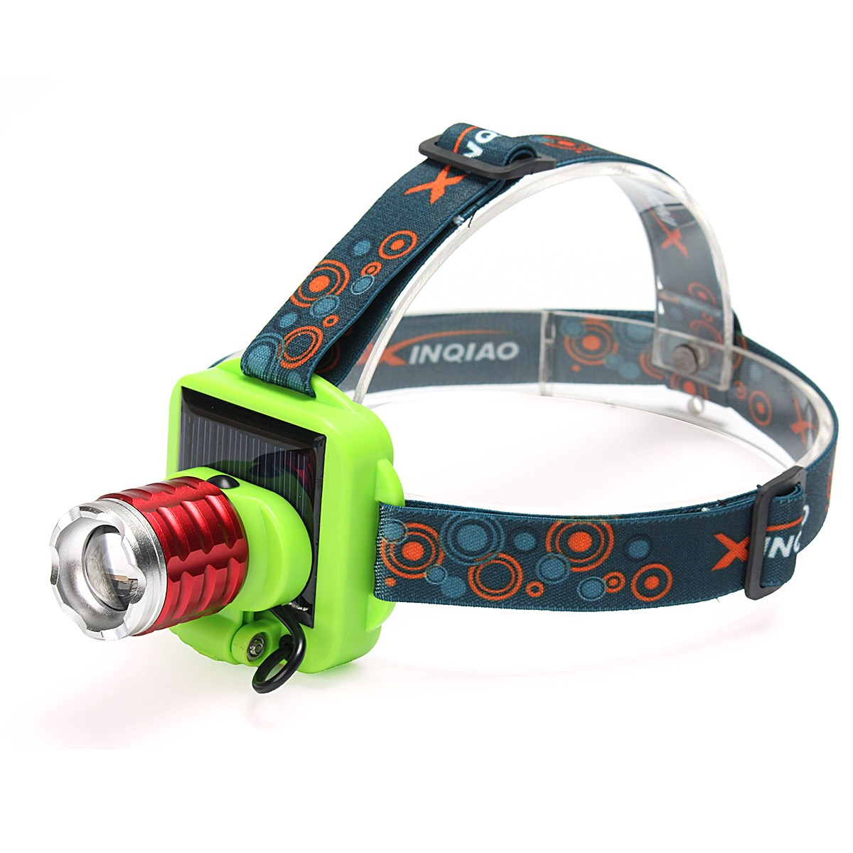 Elfeland 3 Modes Solar Charge Focusing Led Headlight USB Rechargeable Adjustable Headlamp Bicycle Head Light Lamp+usb Cable+lens