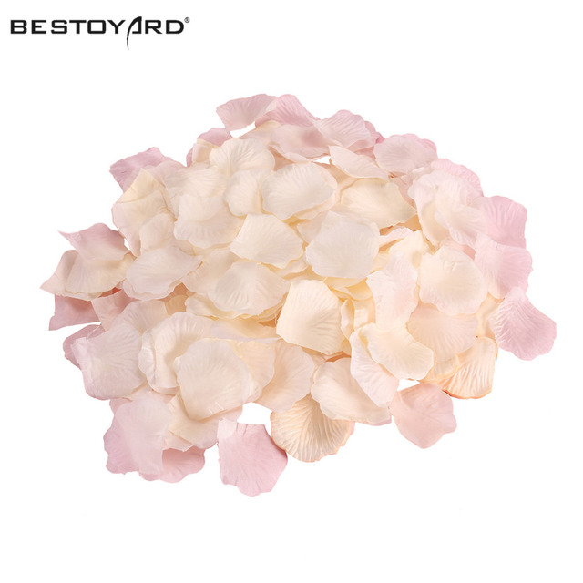 1000 Artificial Silk Rose Petals Wedding Party Flower Decoration Aisle Runners Flower Girl Tossing Table Decoration