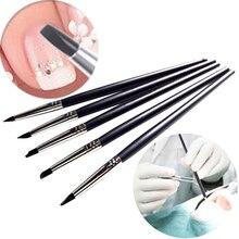 5 шт. стоматологический инструмент для придания формы силиконовым зубам, стоматологические кисти из смолы, ручки для приклеивания композитного цемента, фарфоровые зубные инструменты для стоматолога, горячая распродажа