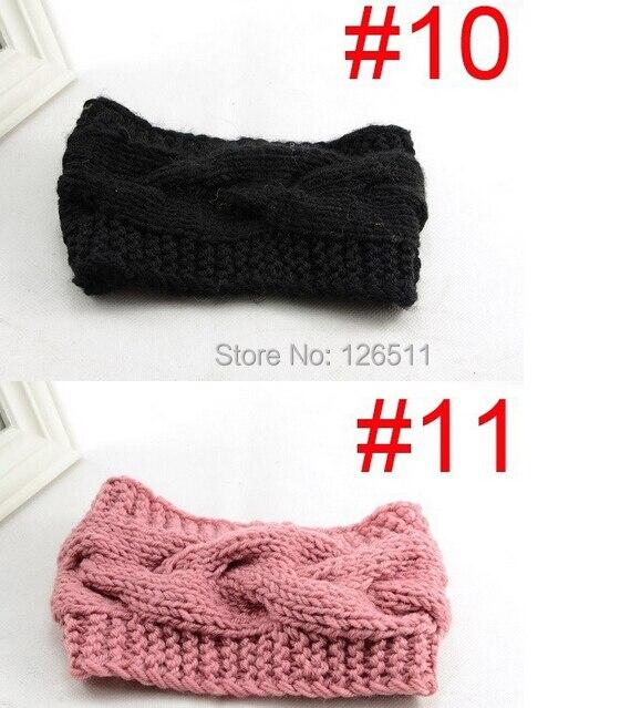 Accesorios de pelo mujeres knit crochet invierno diadema trenza Head ...