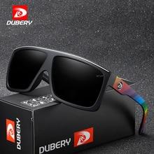 DUBERY Brand Design Polarized Sunglasses Men Driving Shades Male Retro Sun Glasses For Summer Mirror Square Oculos UV400