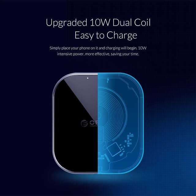 ORICO 10W Qi Wireless Charger for iPhone X 8 XS USB 5V 9V Wireless Charging for Samsung Galaxy S8 S9 S7 Qi USB Wireless Charger